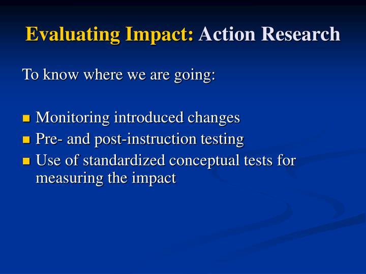 Evaluating Impact: