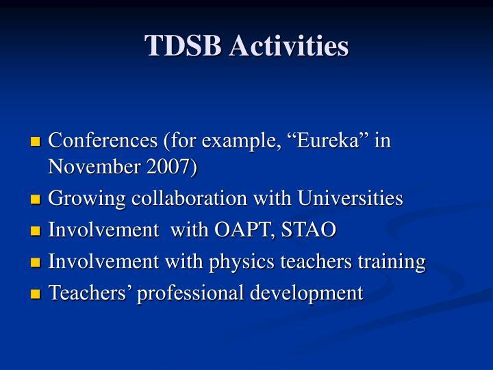 TDSB Activities