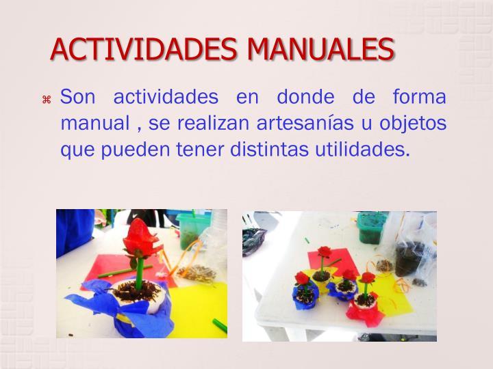 ACTIVIDADES MANUALES