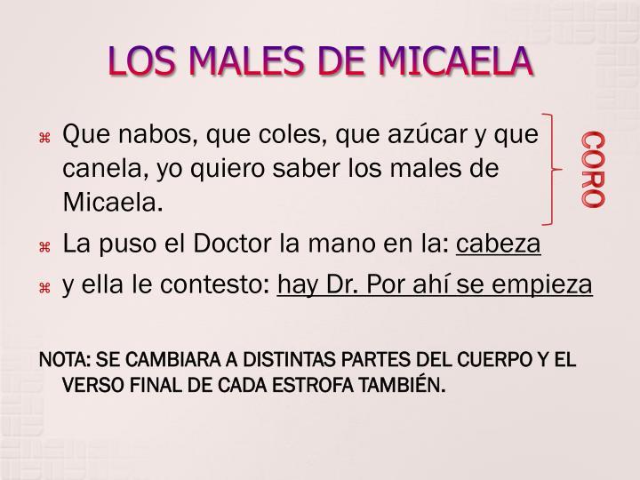 LOS MALES DE MICAELA