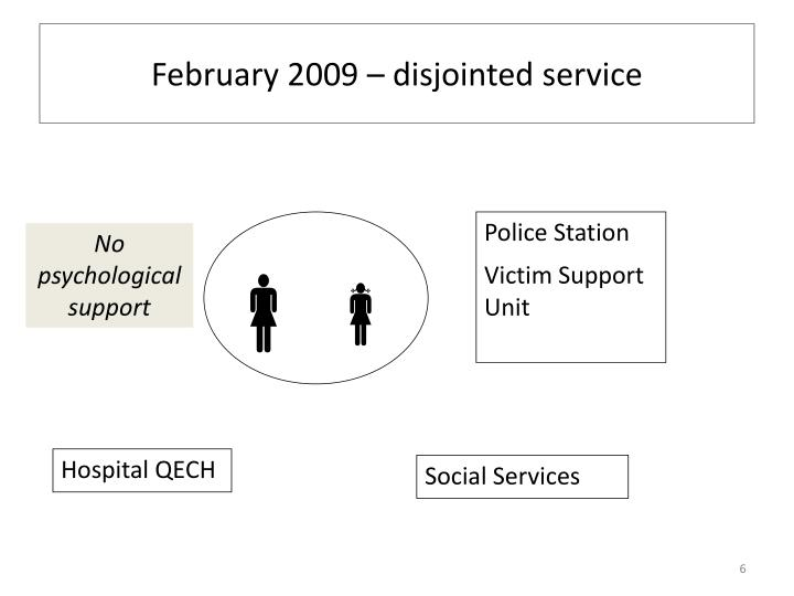February 2009 – disjointed service