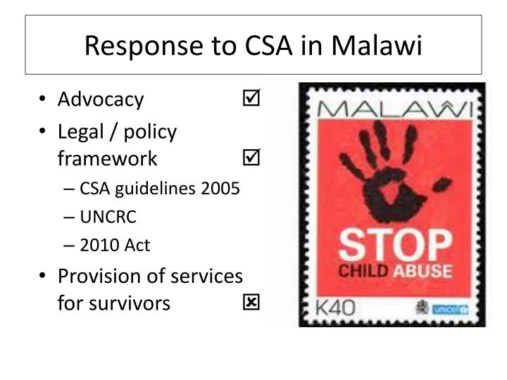 Response to CSA in Malawi