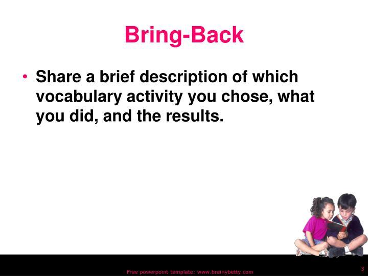 Bring-Back