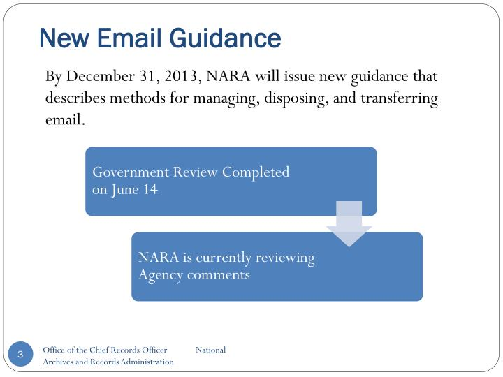 New Email Guidance