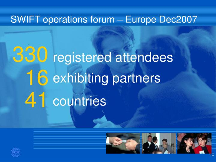 SWIFT operations forum – Europe Dec2007