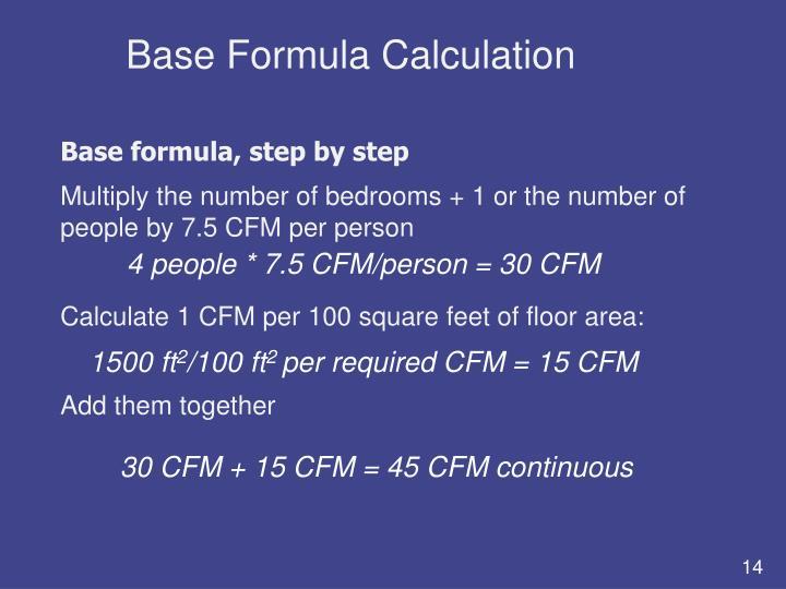 Base Formula Calculation