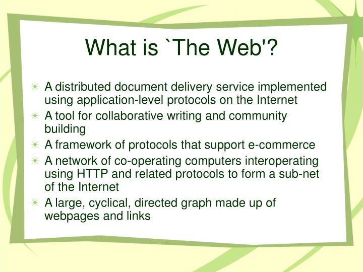 What is `The Web'?
