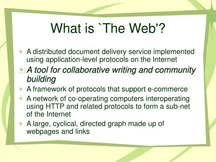 What is the web1