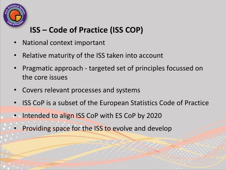 ISS – Code of Practice (ISS COP)
