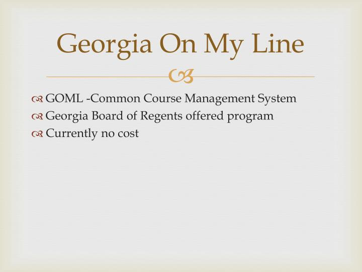 Georgia On My Line