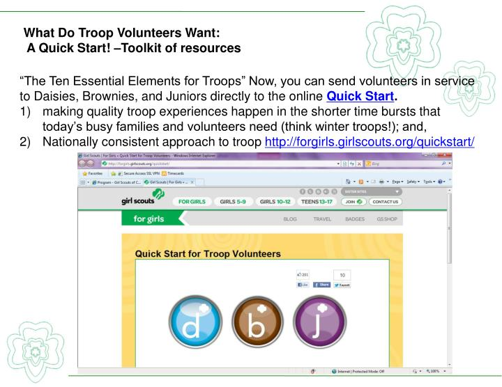 What Do Troop Volunteers Want
