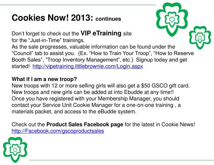 Cookies Now! 2013