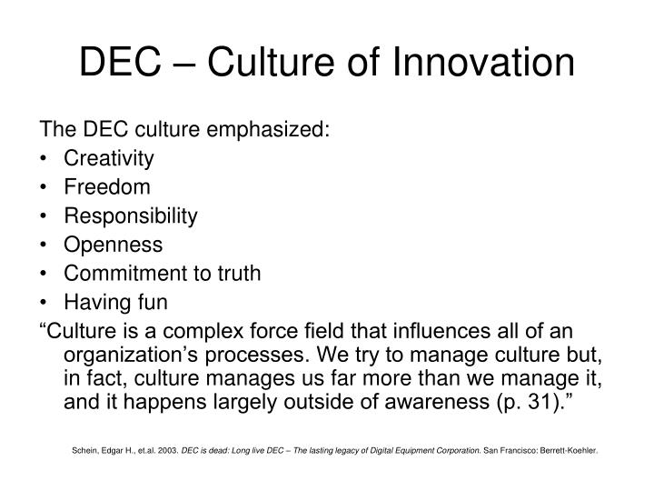 DEC – Culture of Innovation