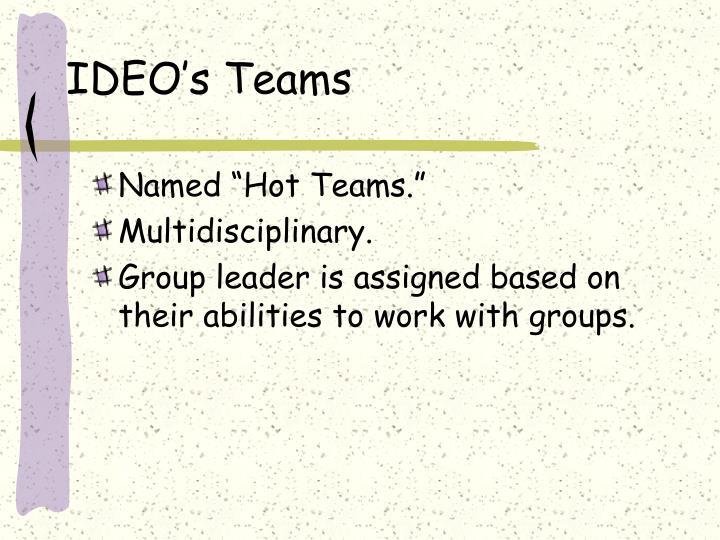 IDEO's Teams