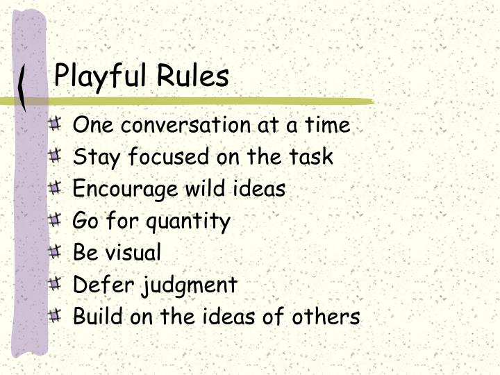 Playful Rules