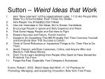 sutton weird ideas that work