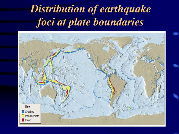 Distribution of earthquake