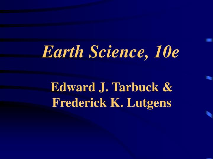 earth science 10e