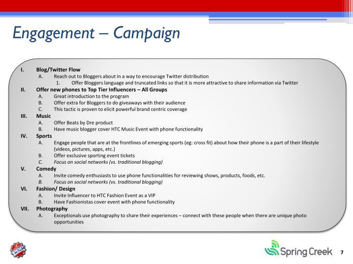 Engagement – Campaign