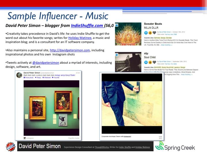 Sample Influencer - Music