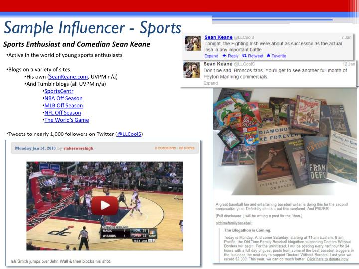 Sample Influencer - Sports