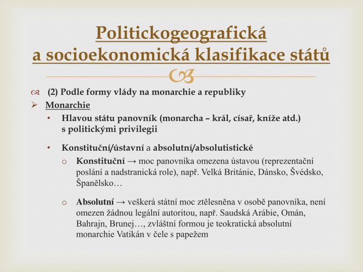Politickogeografická                                 a