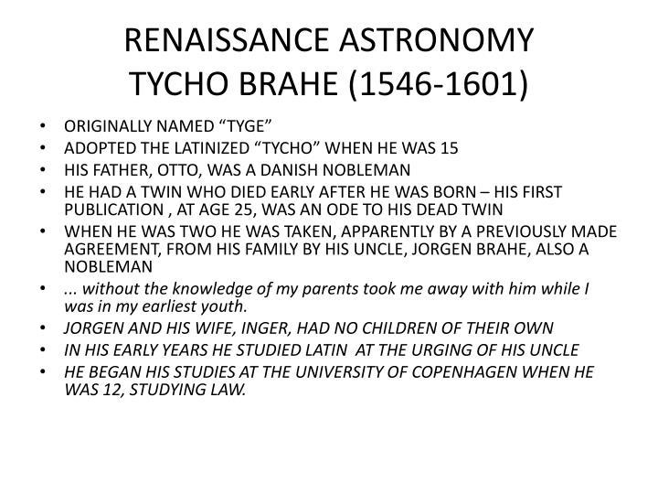RENAISSANCE ASTRONOMY
