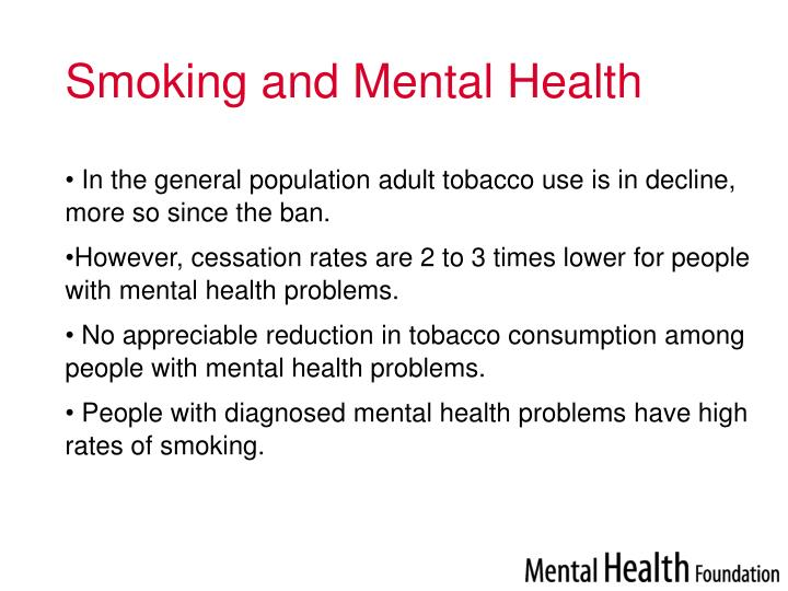 Smoking and mental health