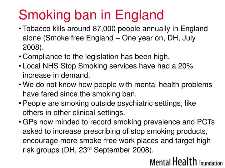 Smoking ban in England