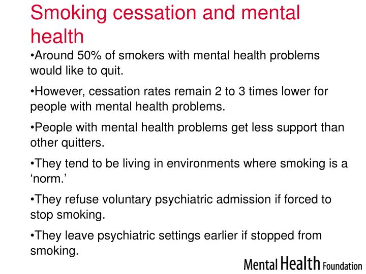 Smoking cessation and mental health