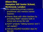 alison eley hampton hill junior school richmond london1