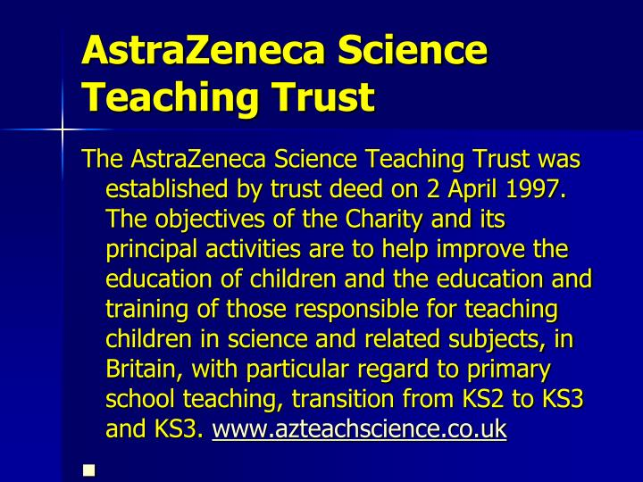 AstraZeneca Science Teaching Trust