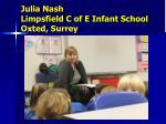 julia nash limpsfield c of e infant school oxted surrey
