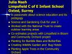 julia nash limpsfield c of e infant school oxted surrey1