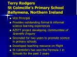 terry rodgers st colmcille s primary school ballymena northern ireland1