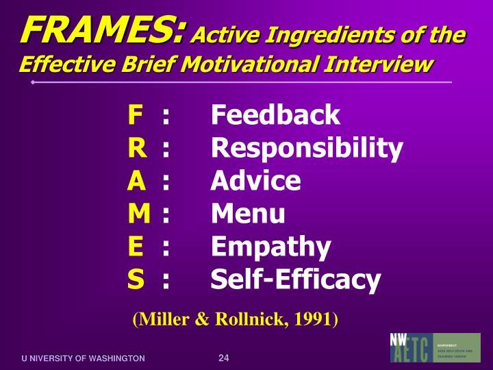 FRAMES: