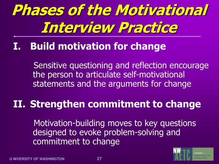 Phases of the Motivational Interview Practice