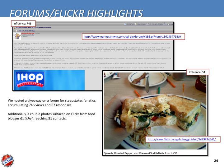 FORUMS/FLICKR HIGHLIGHTS