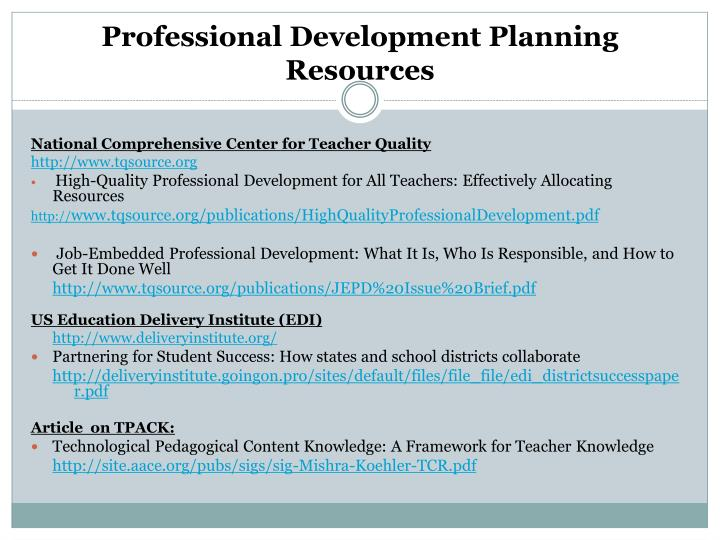 Comprehensive Professional Development Training