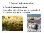3 types of sedimentary rock
