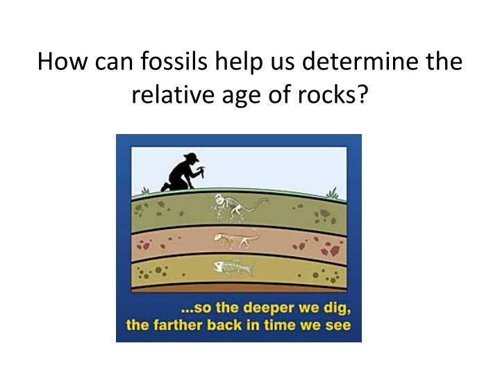 How can fossils help us determine the relative age of rocks?