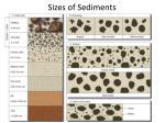 sizes of sediments
