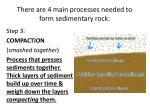 there are 4 main processes needed to form sedimentary rock2