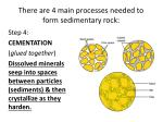 there are 4 main processes needed to form sedimentary rock3