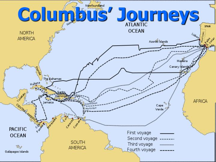 Columbus' Journeys