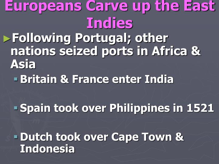 Europeans Carve up the East Indies