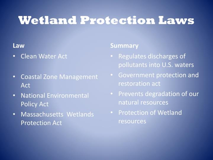 Wetland Protection Laws