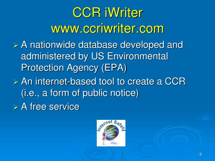 CCR iWriter