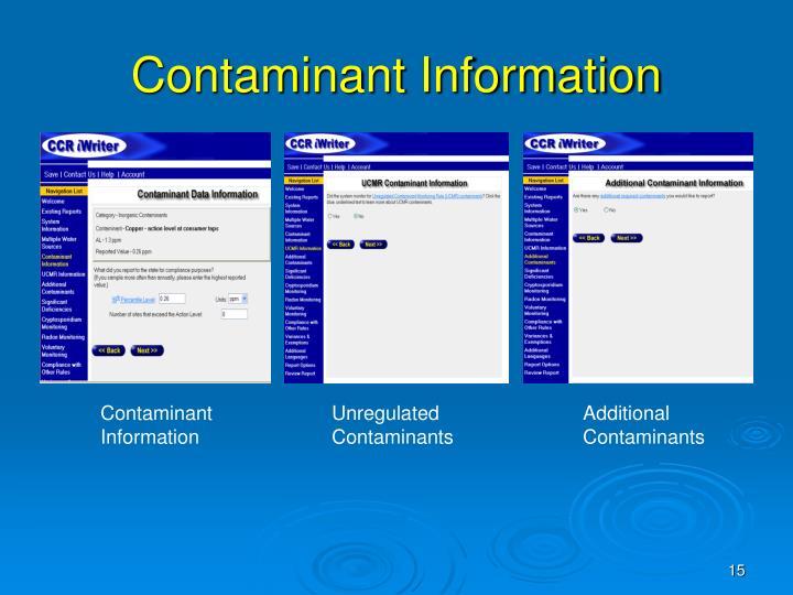 Contaminant Information