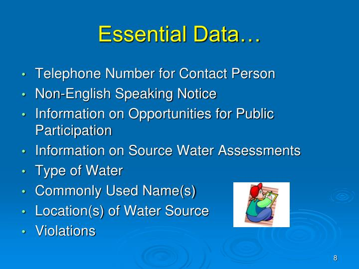 Essential Data…